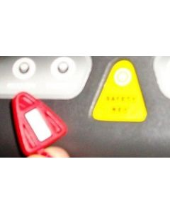 American Motion Fitness triangular safety key (NOT supplied)