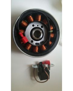 Rotor - stator assembly (SW0001539AB GRP STATOR-ROTOR - 0WR00230 ROTOR GENERATOR)